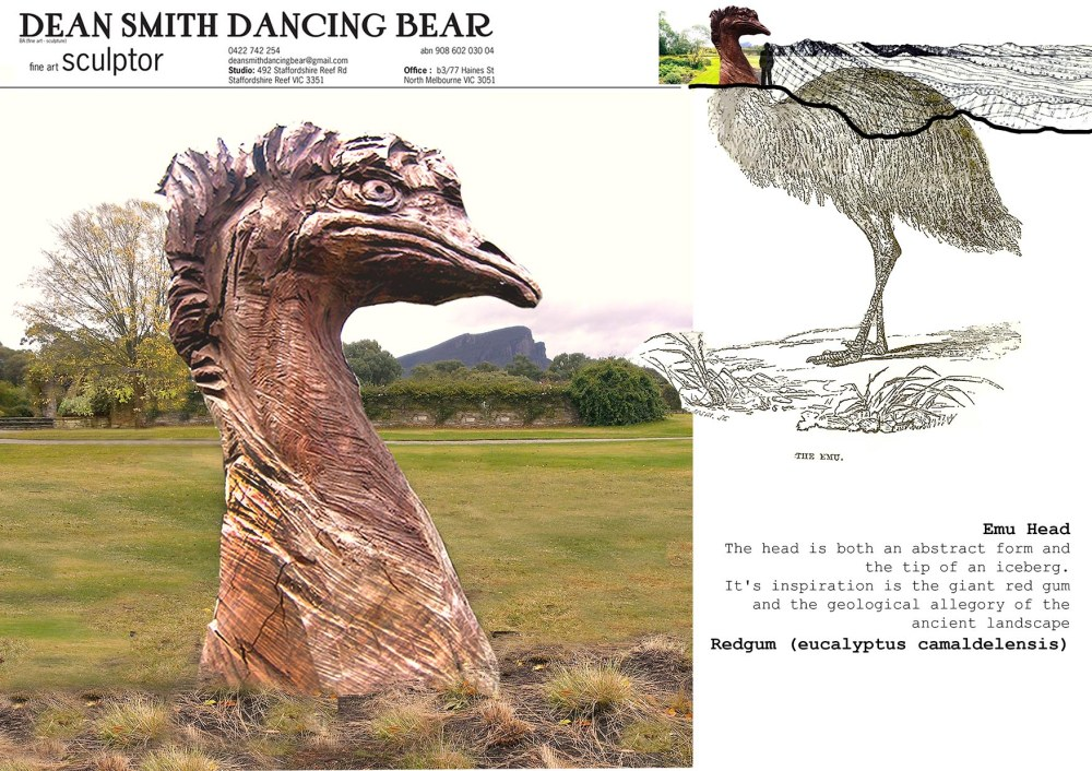 emu head sculpture_small